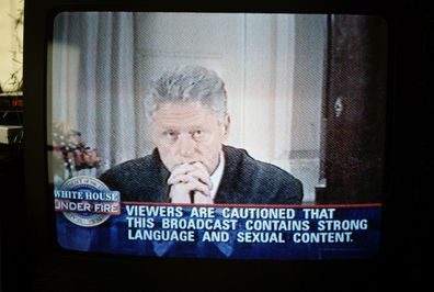 Bill Clinton confesses that he did indeed have sexual relations with Lewinsky.