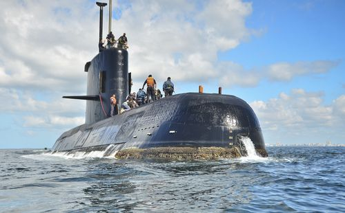 The submarine sank with 44 sailors on board just over one year ago 600km from shore.