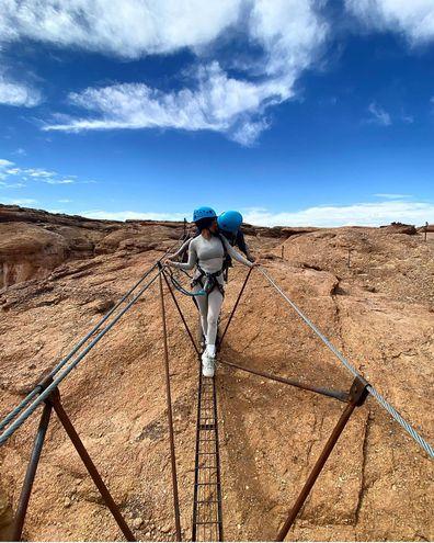 Travis Barker, Kourtney Kardashian, desert getaway, Instagram photos, Amangari resort, Utah