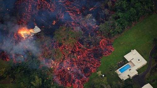 Some homes have been engulfed by lava in Hawaii.