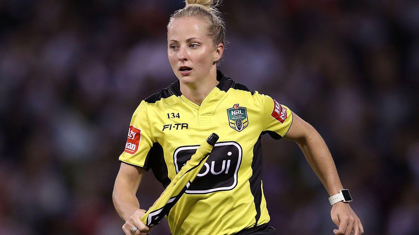 Belinda Sleeman set to become first female NRL trial referee