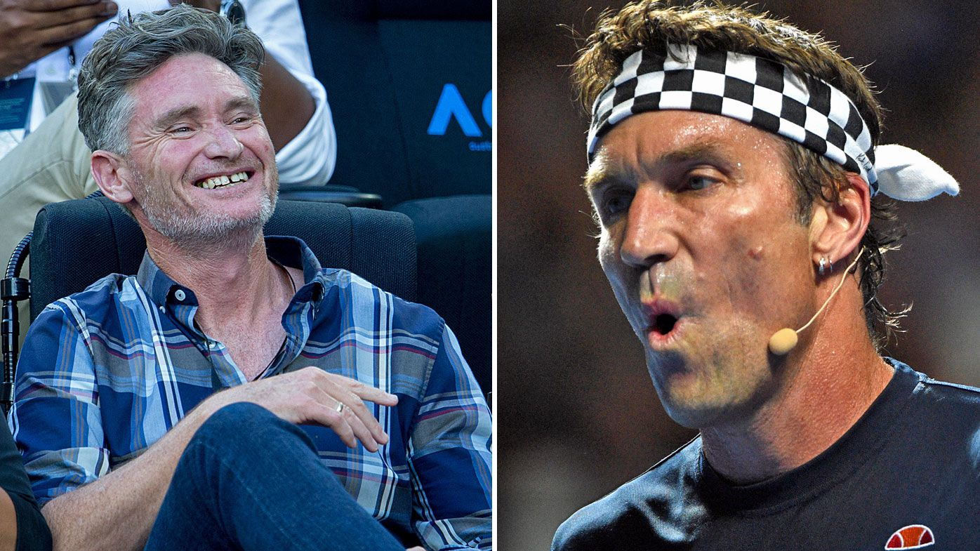 Dave Hughes and Pat Cash