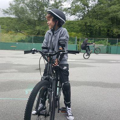 Jacob Tremblay new bike.