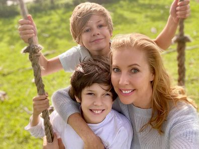 Catriona Rowntree and her sons