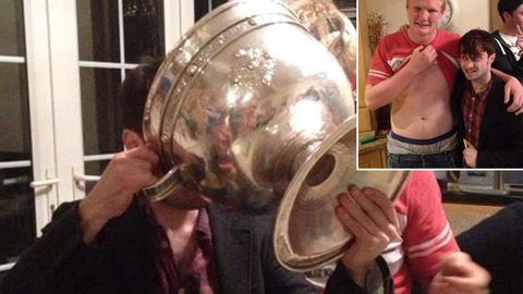 Daniel Radcliffe and the goblet of booze … but isn't he a recovering alcoholic?