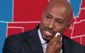 CNN commentator Van Jones weeps as Joe Biden announced winner