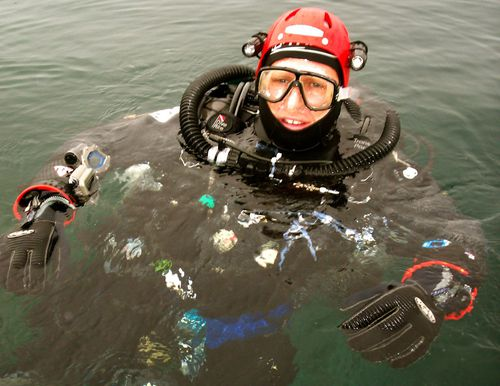 Dr Harris is an experienced diver and rescue expert. Picture: Supplied