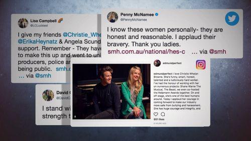 Celebrities on social media have spoken out.