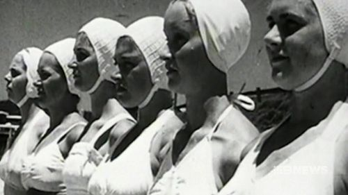 The group of women become lifesavers during the Second World War. (9NEWS)