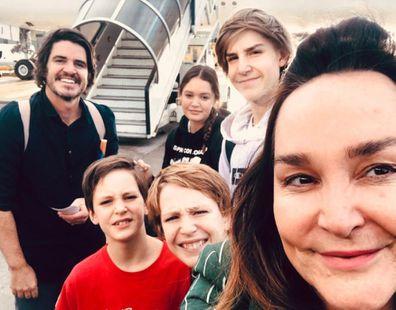 Kate Langbroek family selfie