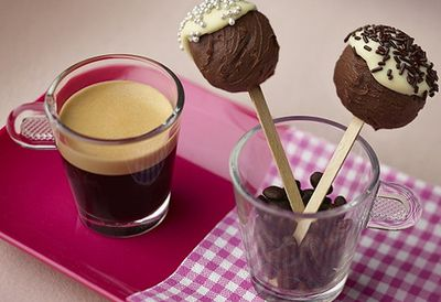 Chocolate and coffee lollypops