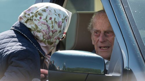 The 96-year-old was pictured behind the driver seat. (Getty)