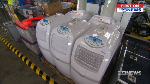 White goods and air conditioners will hit the Llyods online marketplace. Picture: 9NEWS