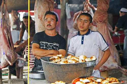 China's Xinjiangis region is home to open-air bazaars