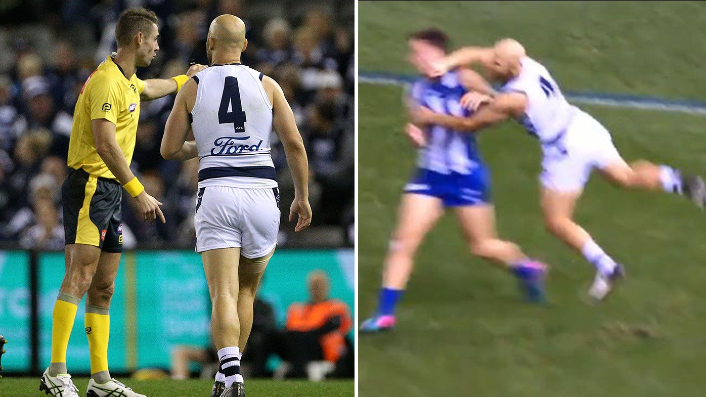 Gary Ablett 'not concerned' despite second high hit in consecutive weeks in Geelong win