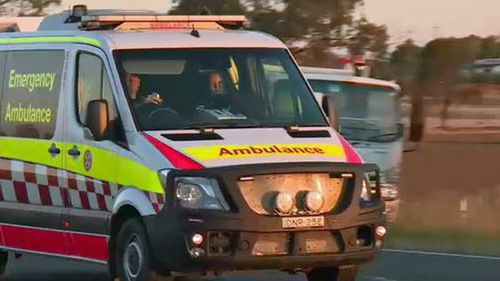NSW Paramedics rush to Burley Griffin Way, 5km east of Temora, following a double fatal car crash.