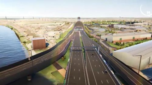 The proposed West Gate Tunnel. (9NEWS)