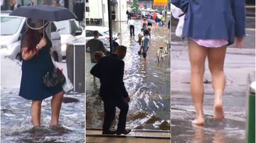 Half a month's rain in three hours floods Melbourne