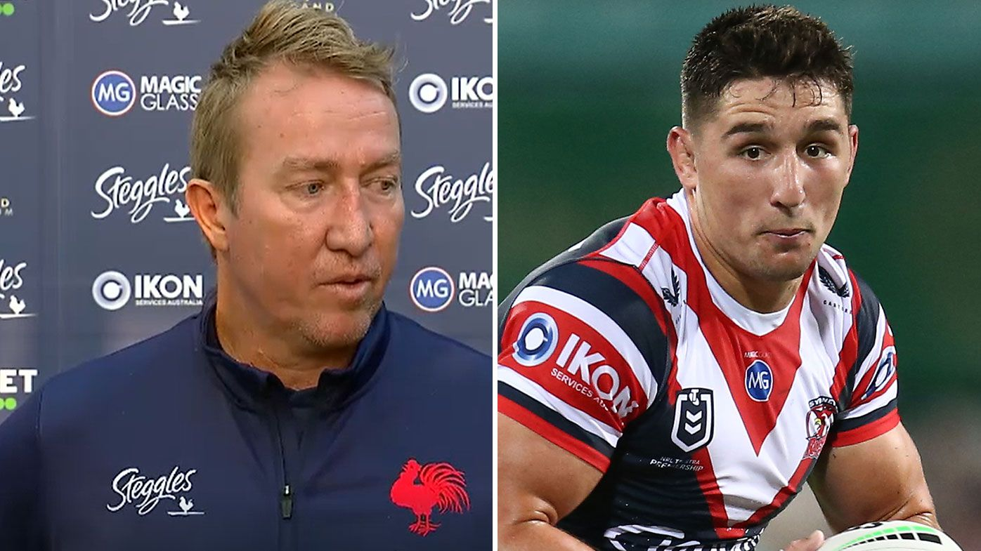 'Act like a man in public': Roosters coach Trent Robinson tees off on Victor Radley after flight removal