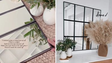 Stacey Solomon creates panel mirror with IKEA frames and mirrors