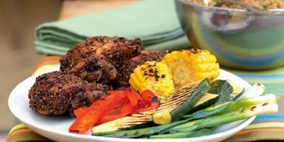 Cumin chicken with quinoa salad