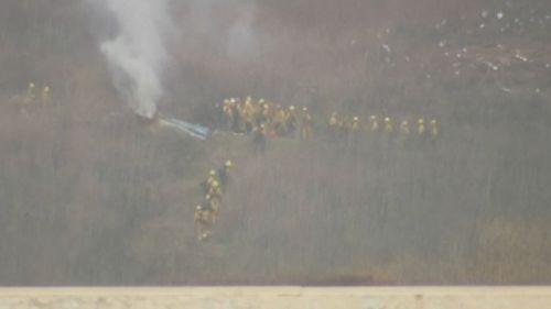 The crash site in Calabasas.