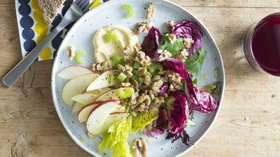 "Recipe: <a href=""https://kitchen.nine.com.au/2017/08/10/15/47/new-waldorf-salad"" target=""_top"">New Waldorf salad</a>"