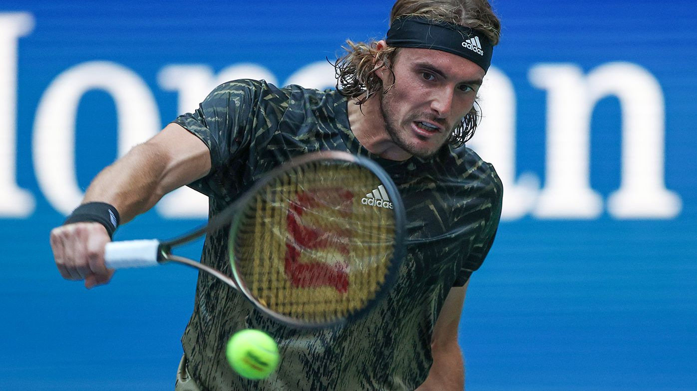 Stefanos Tsitsipas is through to the second round at the US Open.