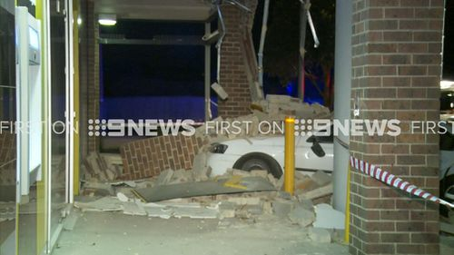 The driver was attempting to park when something went wrong. (9NEWS)