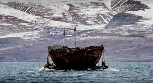 Starting in June, the Maud was towed from Greenland to Norway where it arrived this week. (Photo: Maud Returns Home).