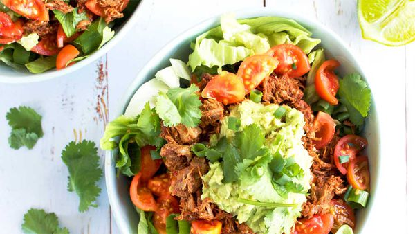 Live Love Nourish's healthy beef burrito bowl recipe