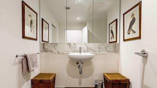 One of two marble bathrooms.