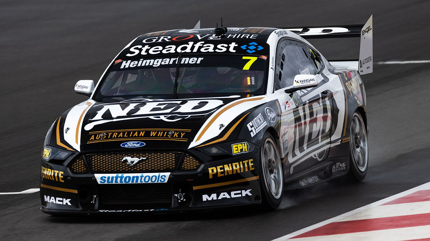 Andre Heimgartner in action in his Ford Mustang.