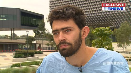 The young chef will be off work for eight weeks. Picture: 9NEWS