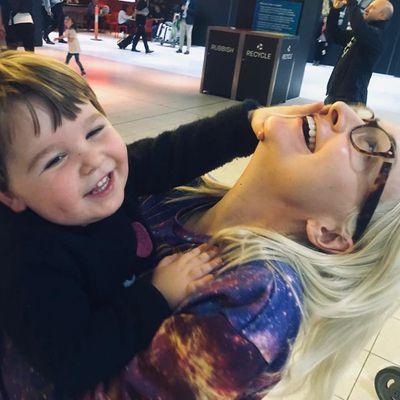 4. She has a very cute son