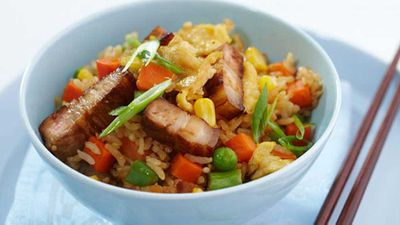 "Recipe:&nbsp;<a href=""http://kitchen.nine.com.au/2016/05/17/12/17/pork-fried-rice-for-10"" target=""_top"" draggable=""false"">Pork fried rice</a>"