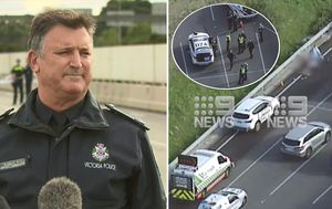 Monash Freeway shooting: Man shot dead by police in Melbourne