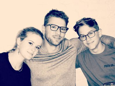 Ryan Phillippe with daughter Ava and son Deacon.