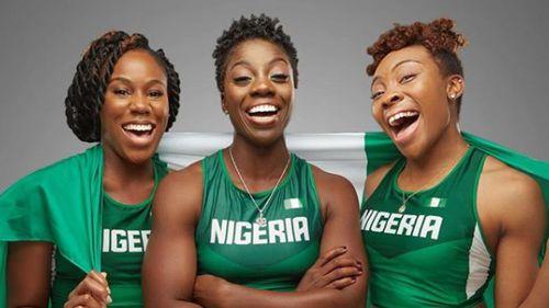 Akuoma Omeoga (left), Seun Adigun (middle) and Ngozi Onwumere. (Instagram: bsfnigeria)