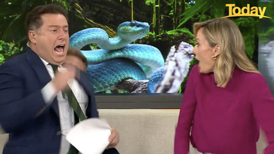 A tap on the shoulder during a snake segment...what could go wrong?