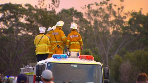More than 500 firefighters in almost 100 fire trucks are fighting the blaze. (9NEWS)