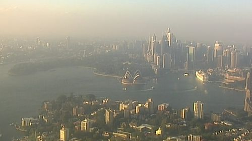Much of the haze is caused by hazard reduction burns in the city's south.