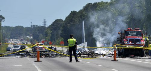 Authorities have confirmed five National Guard members from Puerto Rico were killed in the crash. (AAP)