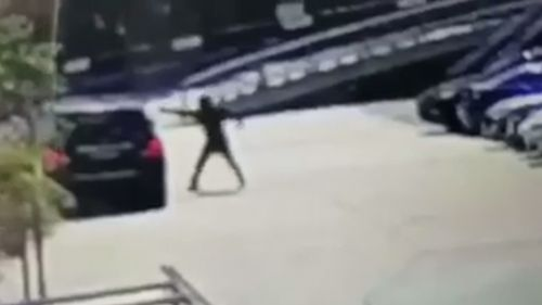 The gunman fired multiple shots at Mick Hawi as he sat in his car. (9NEWS)