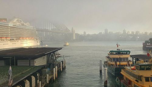 A foggy start in Sydney this morning.