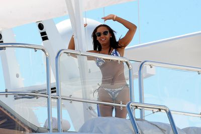 Scary Spice shows of her incredible, slimmed-down bikini body.