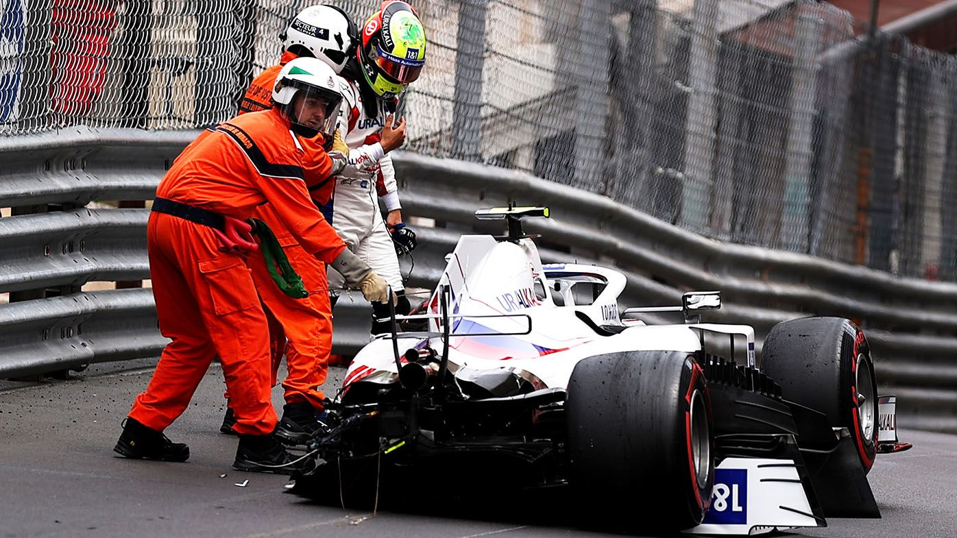 Mick Schumacher crashes in F1 Monaco Grand Prix free practice and misses qualifying