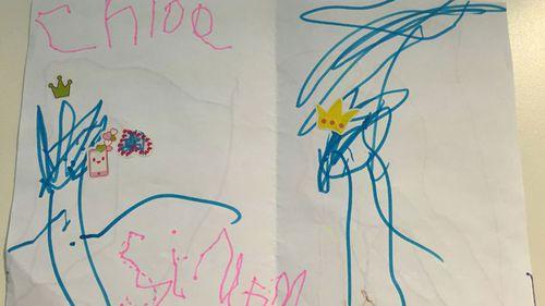 The card Chloe Saxby made for ACA reporter Simon Bouda.