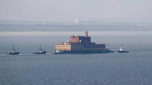 The Akademik Lomonosov is to be loaded with nuclear fuel in Murmansk. (AP)