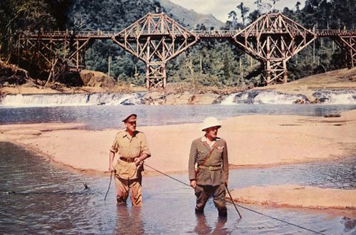 A scene from the film A Bridge on the River Kwai.